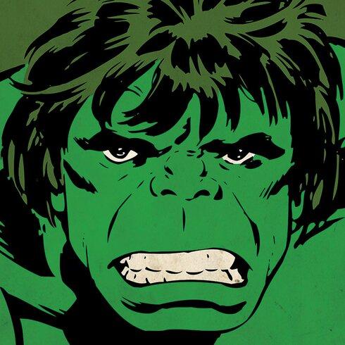 Marvel Comics Hulk Close-Up Canvas Wall Art
