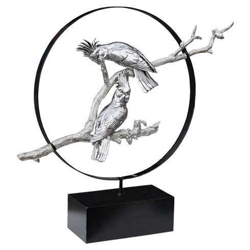 Electro Parrot Statue