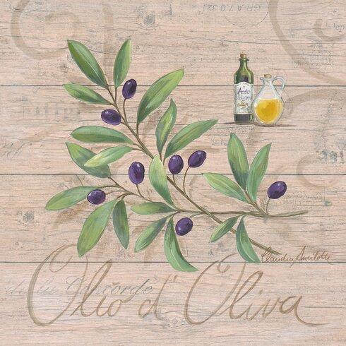 Olio d'Oliva by Claudia Ancilotta Art Print Plaque