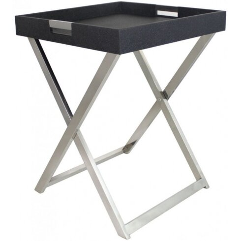 Faux Stringray Leather Side Table