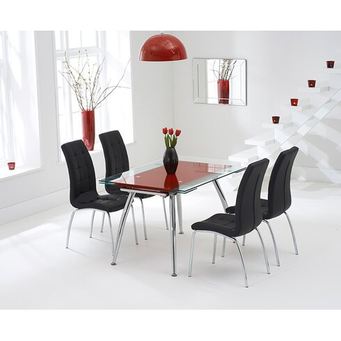 Kent Extendable Dining Set with 4 Chairs