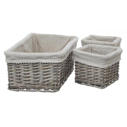 Mesa 3 Piece Willow Basket Set
