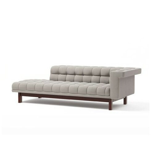 Truemodern george 94 one arm sofa with chaise wayfair for Sofa with only one arm