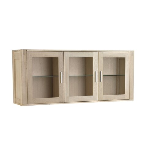 Channa Solid Oak Wall Mounted Display Cabinet