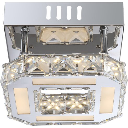 Miley 1 Light Semi-Flush Ceiling Light
