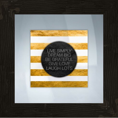 Ptm images live simply framed textual art wayfair for Live simply wall art