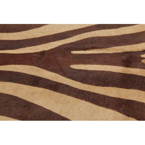 Cowhide Hand-Woven Cream/Brown Area Rug