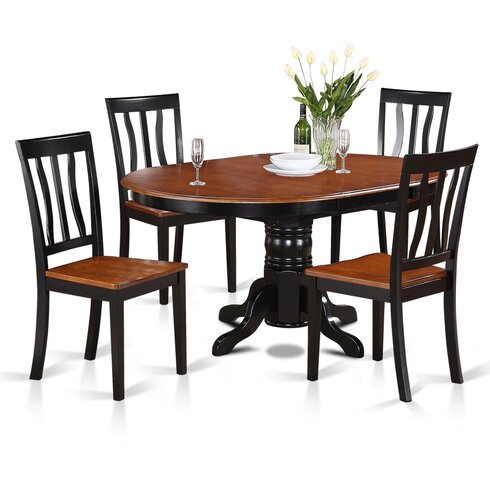 Wooden Importers Easton 5 Piece Dining SetReviewsWayfair