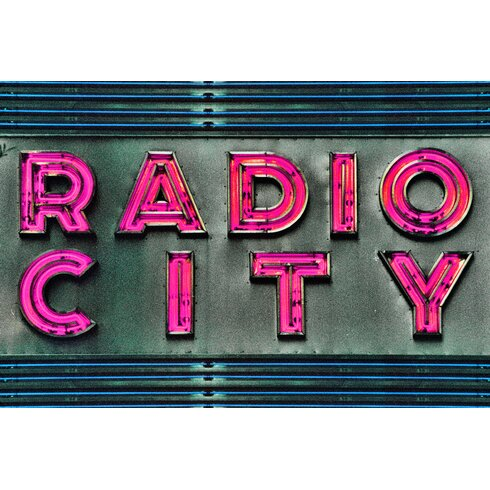 Radio Typography on Canvas in Pink