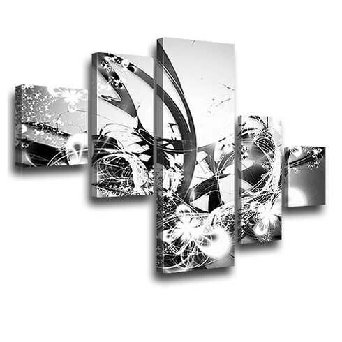 Blossom Graph 5 Piece Graphic Art on Canvas Set