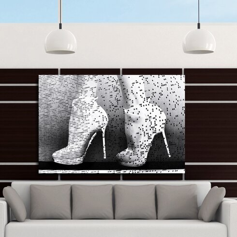 Neon Catwalk Graphic Art on Canvas in Black/White