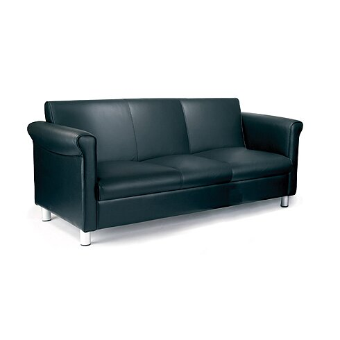 Reception Genuine Leather 3 Seater Sofa