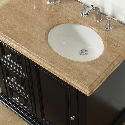 silkroad exclusive 36 single bathroom vanity set with sink on right side reviews wayfair supply. Black Bedroom Furniture Sets. Home Design Ideas