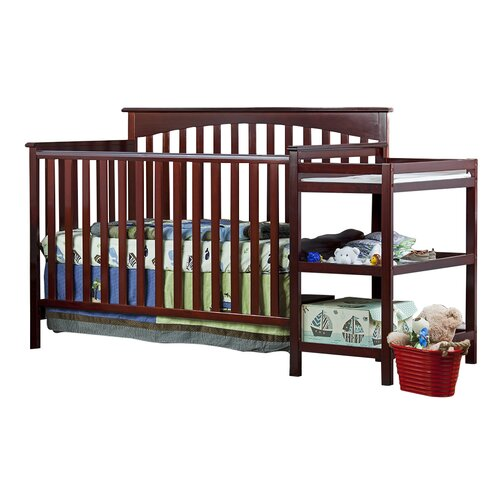 Chloe 4-in-1 Convertible Crib with Changer Combo
