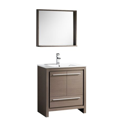 Allier 30 single bathroom vanity set with mirror for All modern bathroom vanity