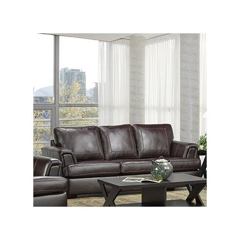 Coja Royal Cranberry Italian Leather Sofa Reviews Wayfair