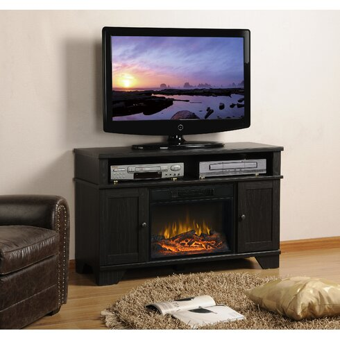 Homestar Hamilton 44 5 Tv Stand With Electric Fireplace Reviews Wayfair