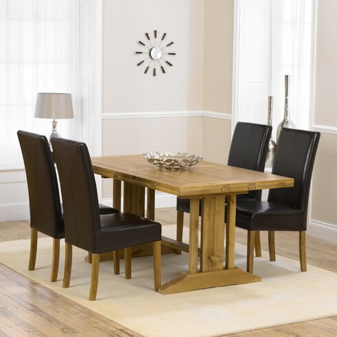 Spencer Extendable Dining Table and 4 Chairs