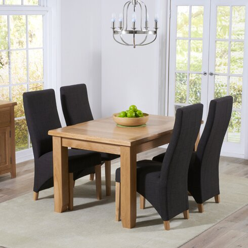 Stoke Extendable Dining Table and 4 Chairs