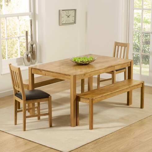 Cambridge Dining Table and 2 Chairs and Bench
