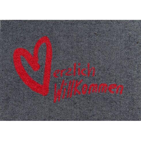 Clean Keeper 'Herzlich Willkommen' ('Welcome!') Doormat