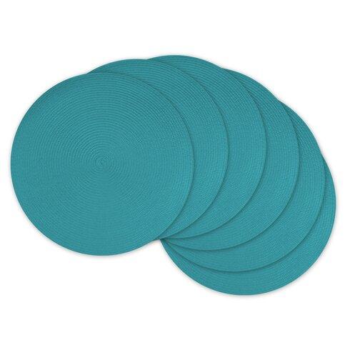 Design Imports Daniel Round Polypropylene Woven Placemat