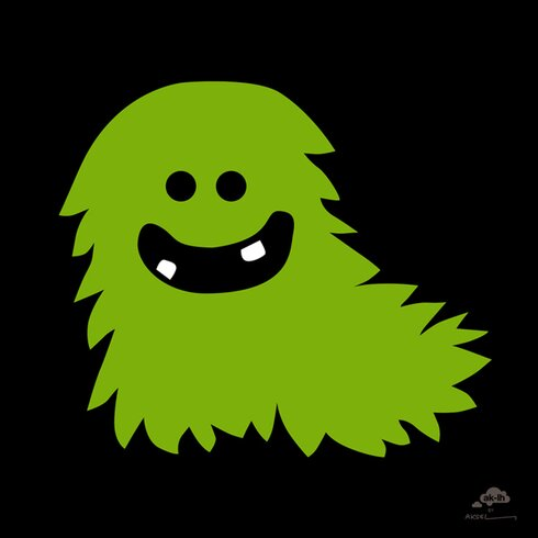 Green Monster by Aksel Graphic Art Wrapped on Canvas