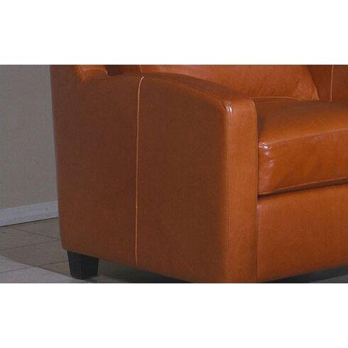 Omnia leather chelsea deco leather sofa reviews wayfair for Chelsea leather sofa