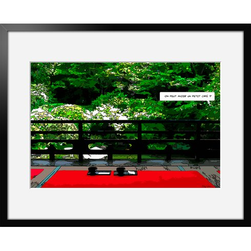 Jardin by Philippe Matine Framed Graphic Art