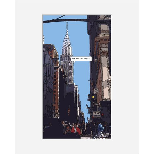 Chrysler Building by Philippe Matine Framed Graphic Art