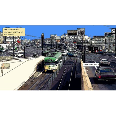 Cable Car by Philippe Matine Graphic Art on Canvas