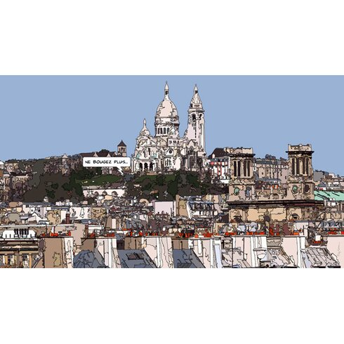 Sacre Coeur by Philippe Matine Graphic Art Wrapped on Canvas