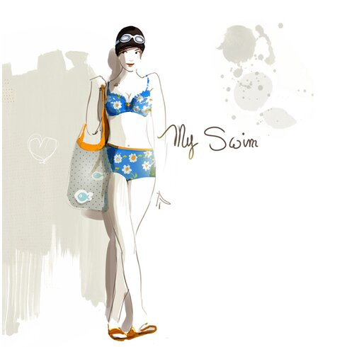 My Swim by Sophie Griotto Graphic Art on Canvas