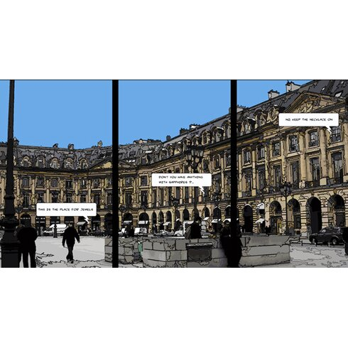 Place Vendome by Philippe Matine Graphic Art Wrapped on Canvas