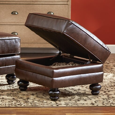 Croydon Bonded Leather Storage Ottoman - Three Posts™ Croydon Bonded Leather Storage Ottoman & Reviews