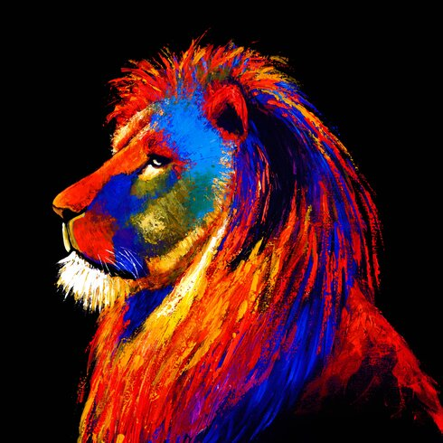 Majestic Lion Tempered Glass Graphic Art