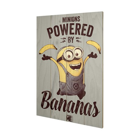 Despicable Me Powered by Bananas Vintage Advertisement Plaque