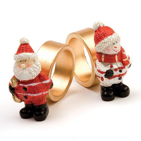 Santa and Snowman Napkin Ring