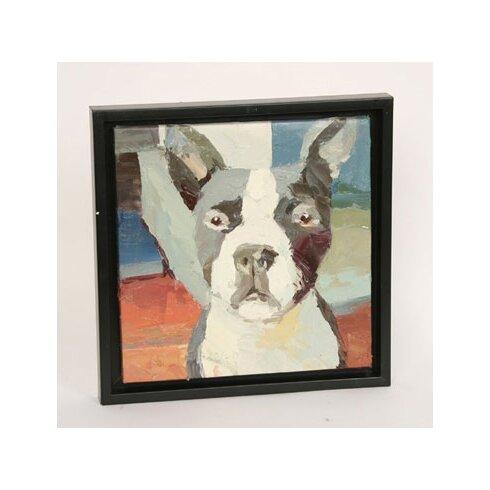 Boston Terrier Framed Painting