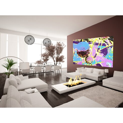 Flower Afro Plants by Andrew Lee Art Print Wrapped on Canvas