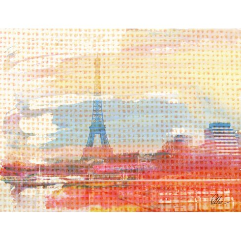 French Hessian Paris by Andrew Lee Graphic Art on Canvas