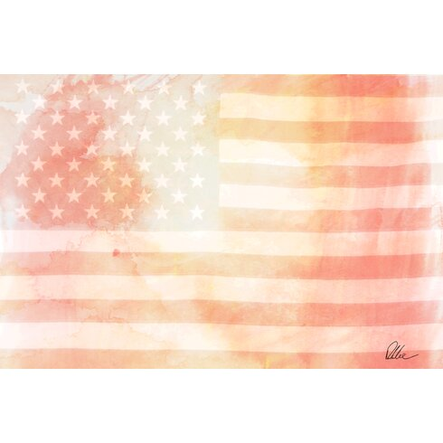 Maps and Flags American Flag Subtle by Andrew Lee Graphic Art on Canvas