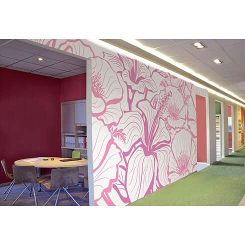 2.5m L x 95cm W Floral and Botanical Tile/Panel Wallpaper