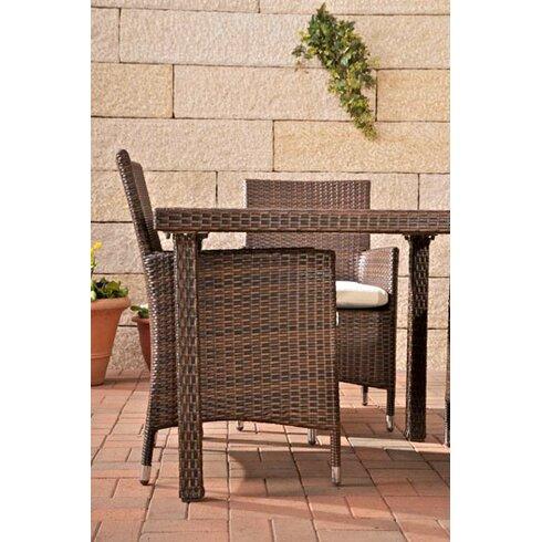 4-Sitzer Gartengarnitur Rio Holz mit Polster