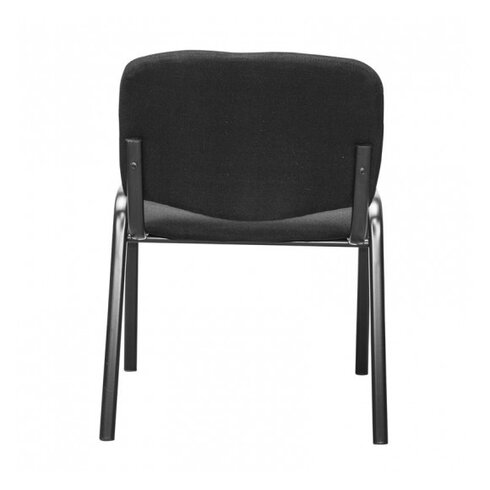 Armless Steel Stacking Chair with Cushion