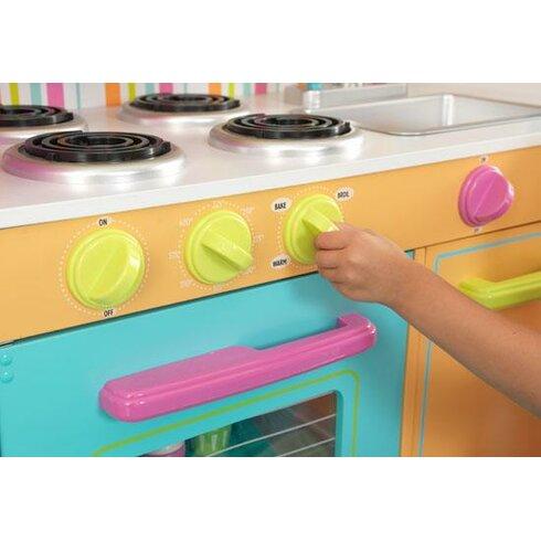 Kidkraft deluxe big bright kitchen play set reviews for Kitchen set 008 26