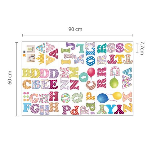 Paper Art with Circus Alphabets and Numbers Wall Sticker