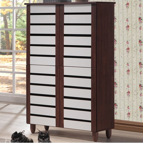 Wholesale Interiors Baxton Studio Gisela 18Pair Shoe Storage