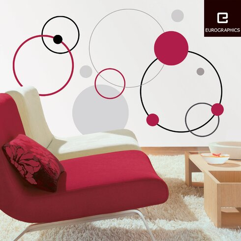 Red Bubbles Wall Sticker