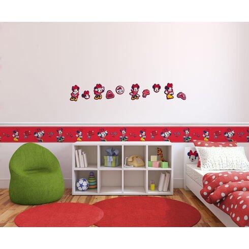 Minnie 10 Piece Mouse Foam Elements Wall Sticker Set
